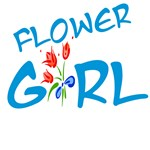 True Blue Flower Girl T-shirts & Gifts