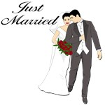 Just Married T-shirts & Wedding Gifts