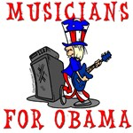 Musicians for Obama T-shirts, Tote Bags and Sweats