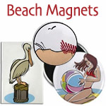 Beach Magnets and Summer Novelties