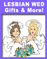Lesbian Wedding T-shirts & Gifts for 2 Brides