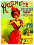 Rosinette Rose Absinthe Vintage Liquor Advertising