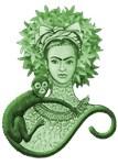 Green Monkey Hugging Frida