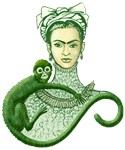 Green Monkey Hugs Frida