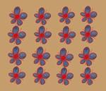 Blue Denim Flowers