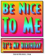 Be Nice To Me - It's My Birthday