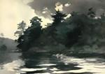 Vintage Rowing Painting