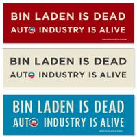 Bin Laden is dead Bumper Stickers