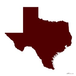 Maroon Texas Outline