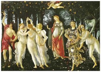 La Primavera (Spring) by Sandro Botticelli c 1477-