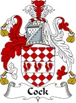 Cock Family Crest