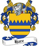 Hare Family Crest, Coat of Arms