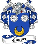 Hopper Family Crest, Coat of Arms