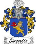 Simonetta Family Crest, Coat of Arms