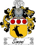 Simoni Family Crest, Coat of Arms