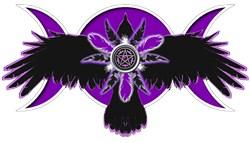 Crow Triple Goddess - Purple