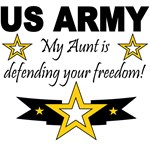 My Aunt is defending your freedom