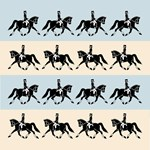 Dressage Horse Trot Pillow