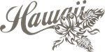 Hawaii Script With Tropical Flower