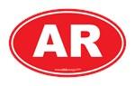 Arkansas AR Euro Oval RED