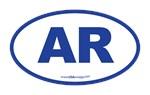 Arkansas AR Euro Oval BLUE