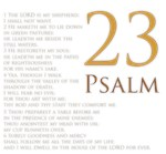 23rd Psalm for Home and Office