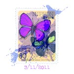 JAPANESE VINTAGE BUTTERFLY STAMP