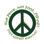 Give Peace Food Allergy Shirts, Buttons, and More!