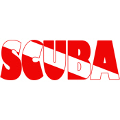 Scuba Text Flag