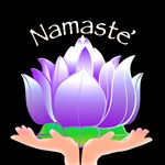 Lotus in Hands and Namaste