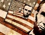 President Abraham Lincoln Patriotic Flag