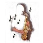 saxophone music design stickers and more