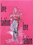 Homeware with fashion art- pink
