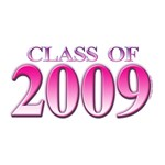 Class of 2009 Pink Grad T-shirts