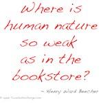 Beecher on Books