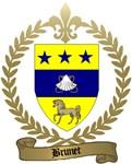 BRUNET Family Crest