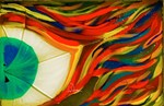 Firey Shattered Green Eye