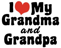 I Love My Grandma and Grandpa t-shirts