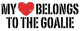 My Heart Belongs To The Goalie t-shirts
