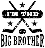 I'm The Big Brother Hockey t-shirt