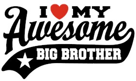 I Love My Awesome Big brother t-shirt