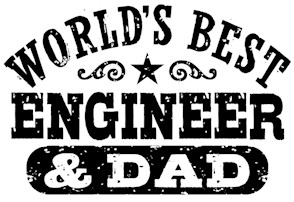 World's Best Engineer and Dad t-shirts