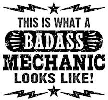 Badass Mechanic t-shirts