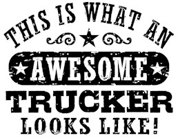 Awesome Trucker t-shirts