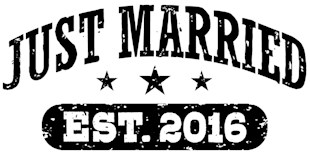 Just Married Est. 2016 t-shirts