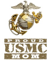 Proud USMC Mom t-shirts