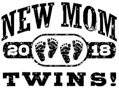 New Mom Twins 2018 t-shirts