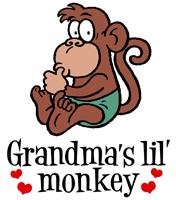 Grandma's Lil' Monkey t-shirts