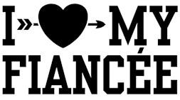 I Love My Fiancee t-shirts