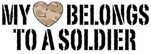 My Heart Belongs To A Soldier t-shirts
